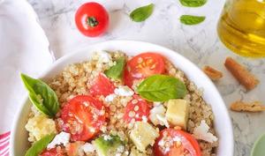 Salade de quinoa, avocat et pamplemousse