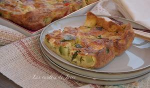 Clafoutis aux courgettes au gorgonzola et à la farine de petit épeautre