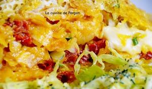 Apéro ou repas omelette dans un sachet de chips, végétarien