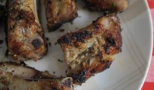 Ribs de porc aux épices Cajun, à la plancha