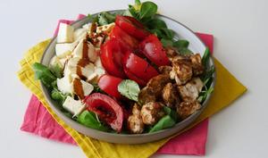 Salade de poulet au vinaigre balsamique