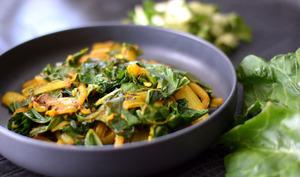 Blettes au curry et cumin
