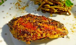 Escalopes de poulet au mélange sauce chien colombo à la plancha