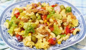 Salade de pâtes au thon sauce tomate