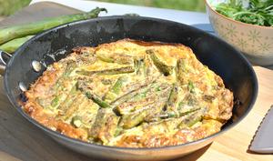 Frittata aux asperges vertes