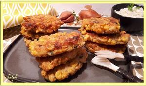 Beignets de crevettes et maïs