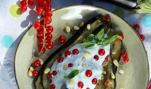 Aubergines grillées sauce yaourt