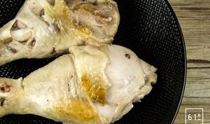 Pilons de poulet à la graisse d'oie