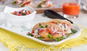 des tacos faciles aux crevettes à la mexicaine