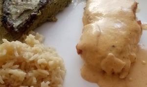 Cabillaud sauce au chorizo