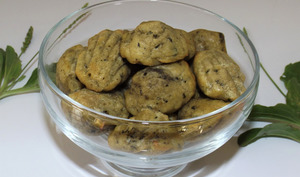 Mini madeleines apéritives au pesto de plantain