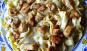 Escalopes de Poulet et Pâtes Sauce Gorgonzola
