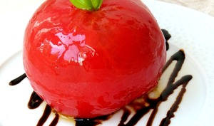 Tomate ancienne surprise àla burrata