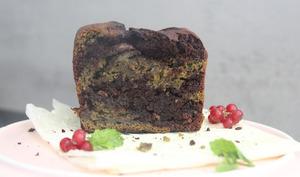 Cake marbré menthe-chocolat