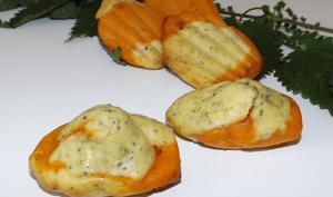 Madeleine marbré tomate et graines d'ortie