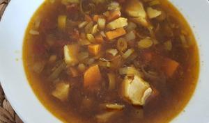 Soupe au cabillaud et aux légumes