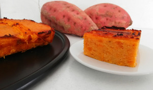 Gâteau aux patates douces et farine de coco