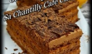 Gâteau au chocolat et sa chantilly café chocolat