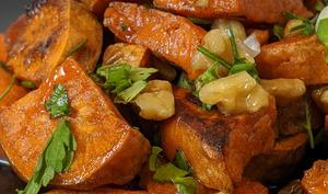 Patates douces rôties aux pacanes et à l'érable