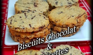 Biscuits chocolat noisettes