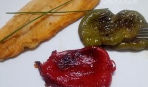 Filet de truite saumonée et poivrons frits - Cuisine gourmande de Carmencita