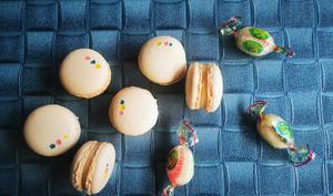 Macarons ganache bonbons Arlequin