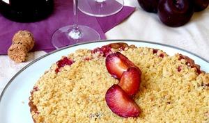 Tarte croustillantes aux prunes rouges