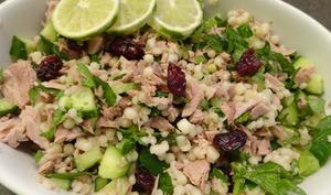 Salade de perles de couscous au thon