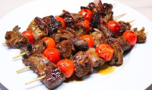 Brochettes de bœuf marinées