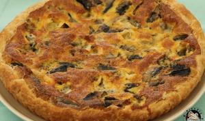 Tarte champignons Roquefort