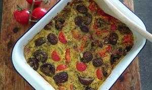 Clafoutis de légumes au curry à l'indienne
