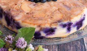 Gâteau invisible végétal pommes - myrtilles