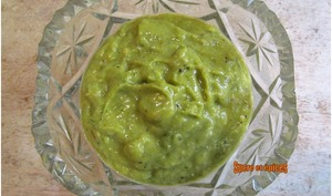 Sauce ou tartinade avocat-poivron vert