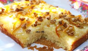 Gâteau à l'ananas et zestes d'orange confits
