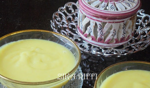 Crème dessert au citron et safran