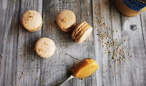 Macarons caramel au tahini
