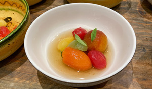 Tomates cerises parfumées à la verveine