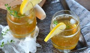 Citronnade maison citron et thym