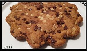 Cookie géant chocolat noir et blanc