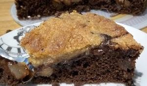 Le gâteau poire chocolat