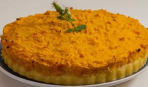 Tarte de polenta et potimarron