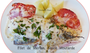 Filets de merlan sauce moutarde
