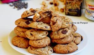 Cookie chocolat noisette et amlou à l'épeautre crème