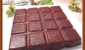 Brownie à la pâte à tartiner et noisettes