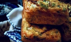 Petits cakes salés aux légumes et au khliï