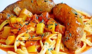 Saucisse italienne au fenouil à la sauce tomate