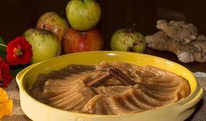 Compote de pommes au gingembre et cannelle