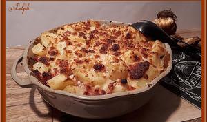 Pommes de terre gratinées façon carbonara