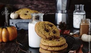 Biscuits au potimarron et pepites de chocolat