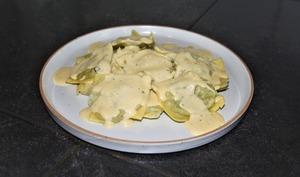 Ravioles à la truffe et crème de parmesan